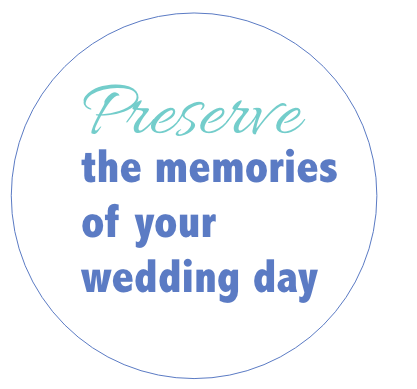 Preserve the memories of your wedding day