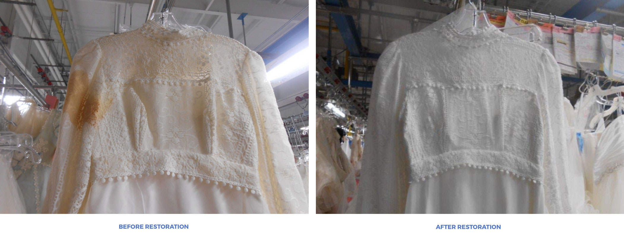 Wedding Dress Restoration | Affordable Preservation Company