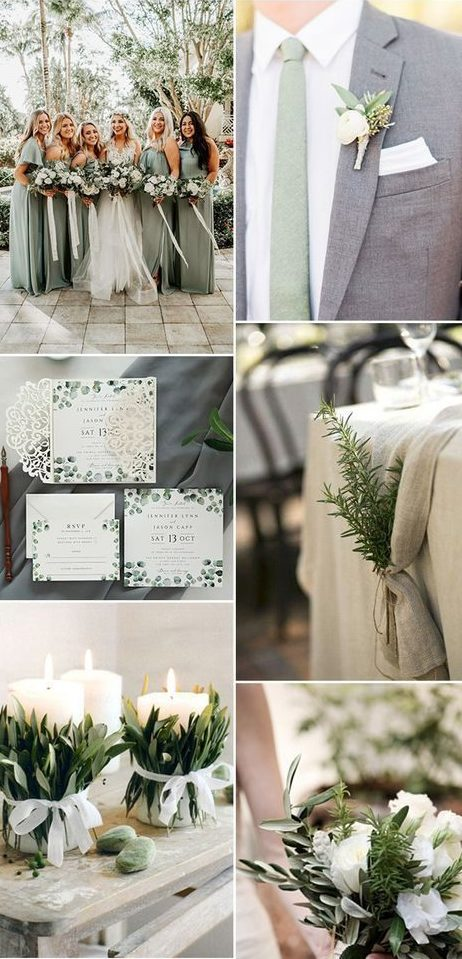 top wedding colors for 2019 sage green